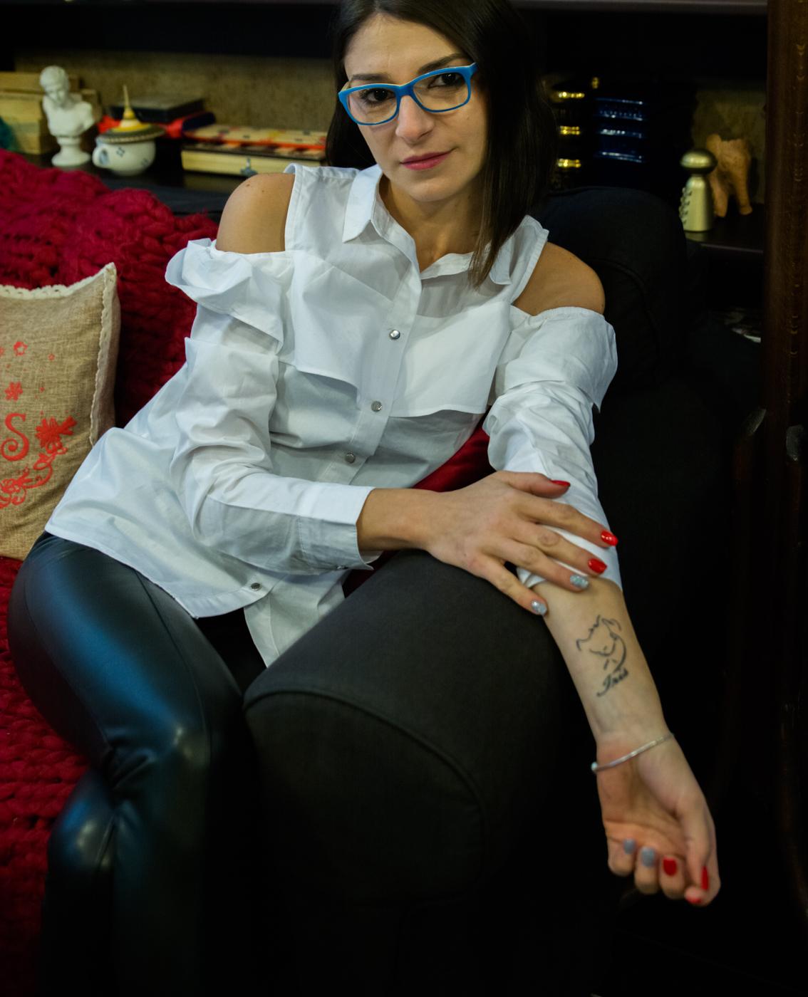 proiect fotografii tatuaje portret de femeie cu tatuaje