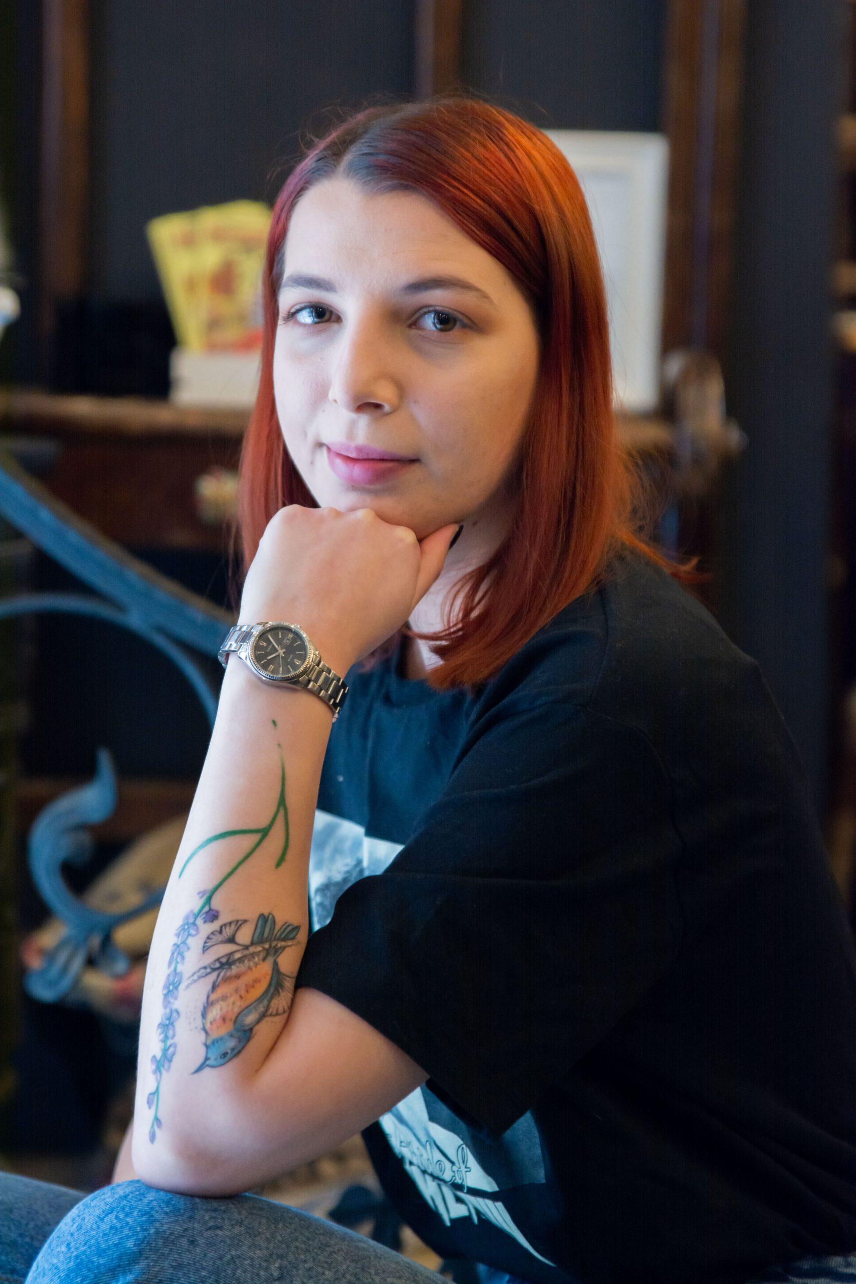 bluebird Bukowski proiect fotografii tatuaje portret de femeie cu tatuaje